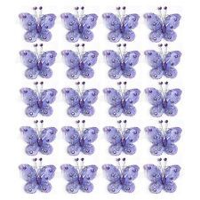 "HOT-sale 20PCS 2"" Organza Butterflies Craft Wedding Party Decoration DIY Choose"