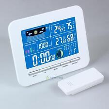 Wireless Weather Station Clock Digital Temperature Humidity Meter Indoor/Outdoor