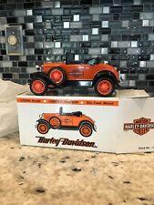 HARLEY-DAVIDSON 1929 MODEL A FORD ROADSTER BANK RARE NIB - #1516