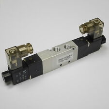 """1/8"""" Pneumatic 5/3 Way Electric Control Solenoid Valve DC24V Double Coil"""