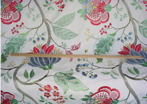 Scalamandre 27175 Palampore Embroidery Floral Linen Upholstery Fabric