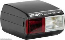 Minolta Maxxum 1800 AF Shoe Mount Automatic Flash with Original Pouch & Manual