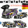 1:10 70km/h RC Auto 4WD Doppel Batterie High Power LED Scheinwerfer Racing Truck