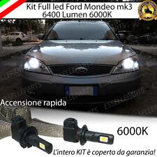 KIT FULL LED FORD MONDEO III LAMPADE H7 6000K XENON BIANCO GHIACCIO NO ERROR