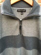 NWOT Banana Republic Sweater Mens Small L/S 1/4 Zip Pullover 2 Toned Gray