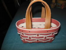 Longaberger 2017 Take Me Away With You March Booking Basket  Pink and White