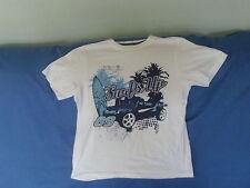 Boys 11-12 Years - White T-Shirt - Surf's Up Motif - Cherokee