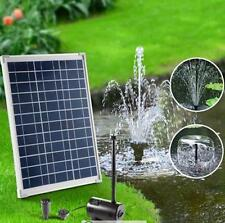 20W 1500 L/h Solar Powered Outdoor Fountain Water Pump 3 Heads 2.5m Water Lift