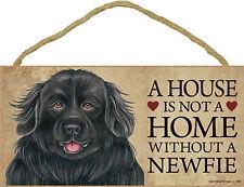 Newfoundland Indoor Dog Breed Sign Plaque - A House Is Not A Home + Bonus Coa.