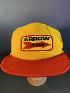 Vintage Truckers Hat. Wilson ARROW SRRVICE YELLOW/Red SNAPBACK PCH3