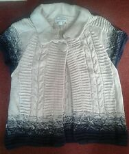 Monsoon jacket size S beige and blue cotton