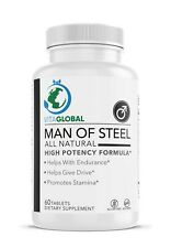 Man of Steel All Natural Help with Endurance and Stamina VITAGLOBAL 60 Capsules