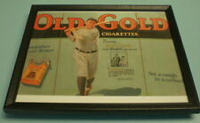 1940s OLD GOLD CIGARETTES BABE RUTH FRAMED COLOR PRINT