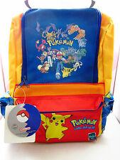 POKEMON Kids Backpack 15in. School Bag 2000 Hasbro Nintendo Vintage NWT NOS Rare