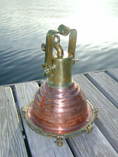 "Cargo Copper Beehive Nautical Dock Fox hangin ship Light- medium 12"" diameter"