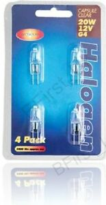 4 x G4 12V 10W or 20W Halogen Capsule Clear Light Lamps Bulbs M91 10 OR 20 Watt