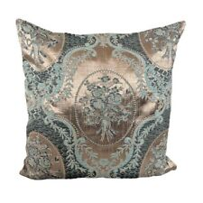 "Brocade Satin Beige/Green 18x18"" Home Decorative/Throw Pillow Case/Cushion Cover"
