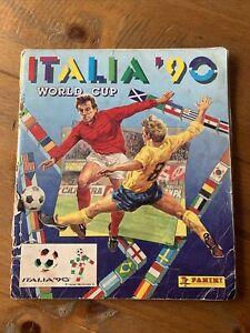 Panini Italia '90 1990 World Cup sticker album. Rare 84% Complete