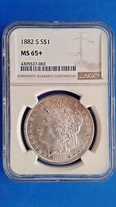 1882 s Morgan Silver Dollar MS 65+ NGC Brilliant Luster