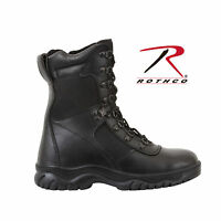"""BOOTS Side Zipper Composite Toe, 8"""" Tactical Size 4-15 Black Style ROTHCO 5063"""