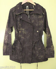 NWT Willow & Clay Classic Anorak Cotton Hooded Dark Brown Parka Jacket S $126