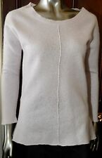 CASHMERE BABY PINK DEANE & WHITE JUMPER SIZE SIZE 12 EURO 38 US 8  - PRE-OWNED