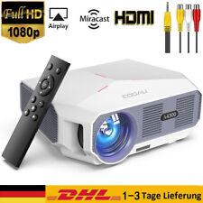 COOAU Projektor Beamer Full HD 1080P LED Heimkino HDMI Cable Multimedia 5500LM