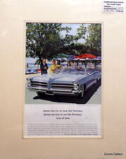 Original Vintage Advert mounted ready to frame motor car 1965 Pontiac V8