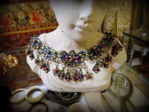 A Fabulous Set Bangle Necklace Earrings Ring Silver Enamel Coral Algeria Kabyle