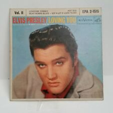 Elvis Presley RCA EPA 2-1515    LOVING YOU VOL. 11    45 SHIPS FREE / MAKE OFFER