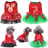 Pet Dog Cat Christmas Dress Costume Clothes Puppy Santa Winter Apparel Girl Gift