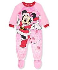 Disney Minnie Mouse Toddler Girls Footed Fleece Christma Pajamas, Pink, Size 24M