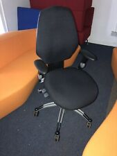 RH300 Orthopaedic Medium Back Exec Chair With Arms In Havana Black Only 3 Avail