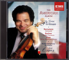 Itzhak PERLMAN: BARBER Violin Concerto BERNSTEIN Serenade FOSS Seiji OZAWA CD