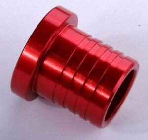 Alloy Hose Blanking Plug Bung Red BOV Dump Valve New Aluminium CNC Billet Pipe