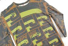 Vintage 90s Pepe Jeans All Over Print Long Sleeve T Shirt Jersey Hip Hop Rap Men