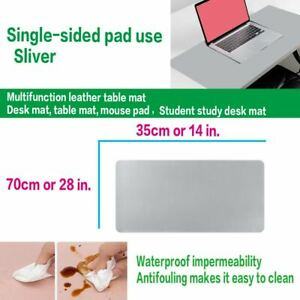 Learn Make Homework or Dinner Leather Mat Bigger Desk Pad Mouse Pad Warm Mat Lot