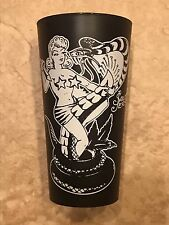 Sailor Jerry Spiced Rum Black Plastic Pinup Girl with Snake Cup
