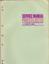 AKAI Service Manual Model GXC38 44d schematic stereo cassette tape deck recorder