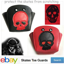 Mans Roller Derby skate toe guards Toe Stops Toe Caps with Punk Rock Skull
