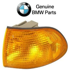 For BMW E38 740i 740iL Front Driver Left Turn Signal Light w/Yellow Lens Genuine