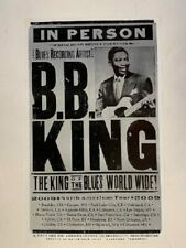 BB King Concert Poster 2009 North American Tour