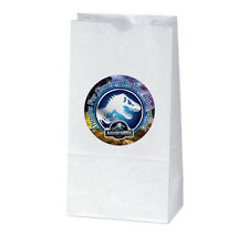 12 JURASSIC WORLD Birthday TREAT BAGS with STICKERS (2.5 inches)