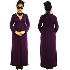 NWT Size S/M/L NEW Womens Grecian Elegant Long Sleeve VNeck Cocktail Maxi Dress