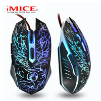 iMICE X5 LED Optic High configuration USB Wired Mouse Computer Gamer 2400DPI