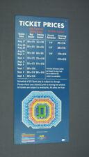 2012 US Open Ticket Price Sign! Tennis Stadium Memorabilia Sign!