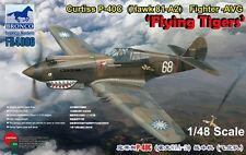 """Bronco Models 1/48 Curtiss P-40C (Hawk 81-A2) Fighter-AVG """"Flying Tigers"""""""