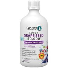 Carusos Super Grape Seeds 50000 500ML help various areas of the body eyes, skin