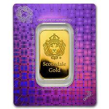 1 oz Gold Bar - Scottsdale Mint (In Certi-Lock® Assay) - SKU #97641