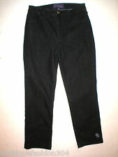 NWT New NYDJ Womens 6P 6 Petite Not Your Daughters Jeans USA Dark Black Nice